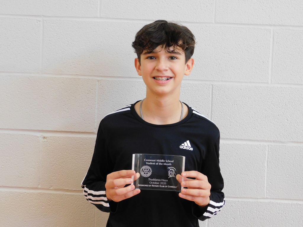 Thaddaeus Huya- October Student of the Month